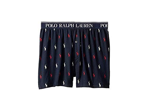 Polo Ralph Lauren Men's Cotton Modal Exposed Waistband Boxer Cruise Navy/Rl2000 Red/White Aopp Large