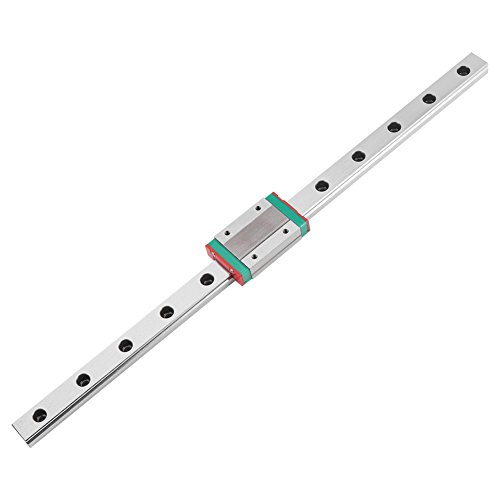 (MGN12H Mini Linear Rail Guide, 250/300/ 400/500/ 550mm Linear Sliding Gide with MGN12H Carriage Block for DIY 3D Printer and CNC Machine (300mm) )