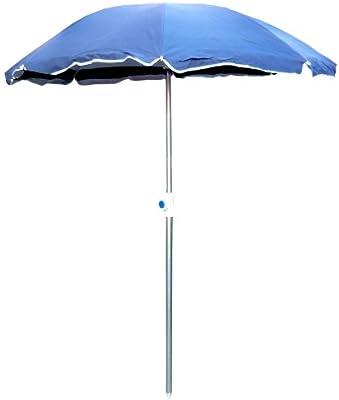 Sombrilla ligera de playa, altura 160 cm x diámetro 130 cm, con palo de aluminio y bolsa de transporte, 2544001: Amazon.es: Deportes y aire libre