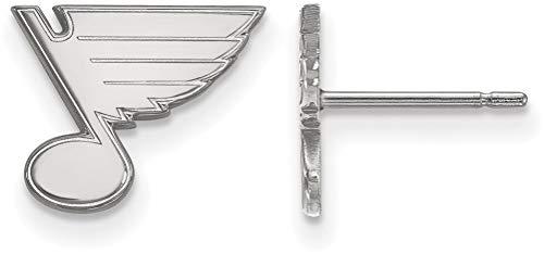 - Sterling Silver NHL St. Louis Blues X-Small Post Earrings by LogoArt