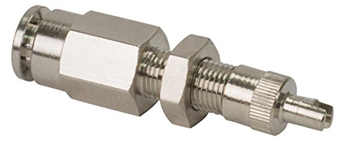 VIAIR 11490 DOT Inflation Valve (for 1/4'' Air Line) (DOT Approved, PTC Style, Nickel Plated), 2 Pack by VIAIR