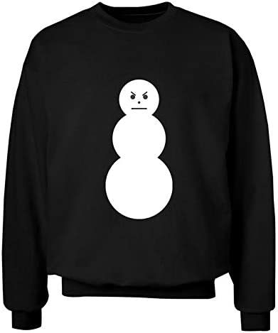 Memo Apparel Jeezy The Snowman Black Sweater Garment Top Unisex Crewneck