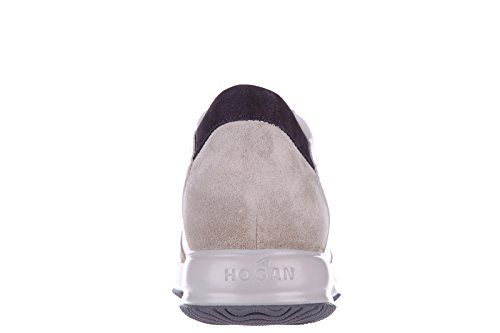 Hogan chaussures baskets sneakers homme en daim interactive h flock blanc