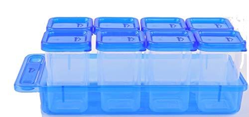 Gluman Masala Spice Container Set, Small (Pack of 8, Multicolored)
