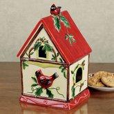 Winter Wonder Birdhouse Shaped Cookie Jar (Birdhouse Cookie)