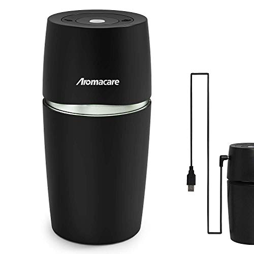 Aromacare 90ml Essential Oil Diffuser for Car, USB Car Diffuser,Portable Mini Car Cup Diffuser/Humidifier, Perfect Air Freshener for Vehicle, Travel Size, Black