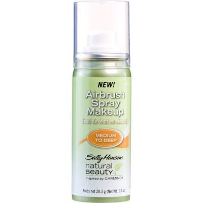 Sally Hansen Natural Beauty Airbrush Spray Makeup, Medium to Deep, Inspired By Carmindy.