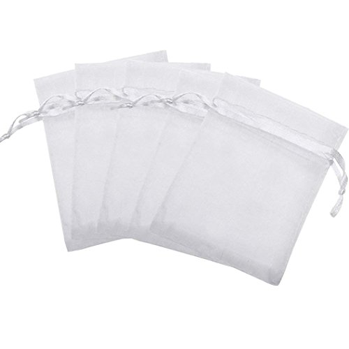 3c075bcaf84c 100pcs White Organza Drawstring Gift Bags, Marrywindix Wedding Party Favour  Gift Bags Jewelry Pouches