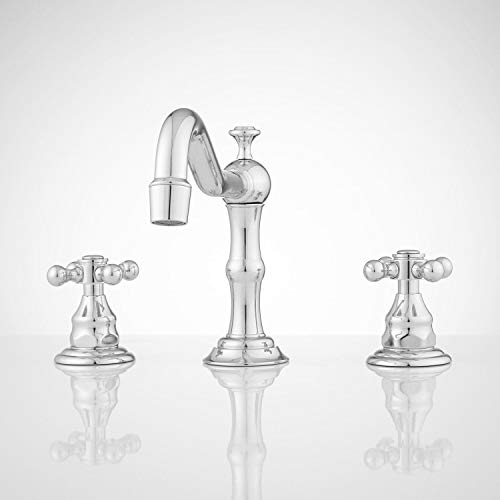 Signature Hardware 404085 Barbour 1.2 GPM Widespread Bathroom Faucet with Pop-up Drain Assembly