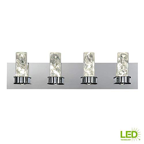 Home Decorators Collection York Collection 30-Watt Crystal Integrated LED Bath Light (Decorators Home Clearance)
