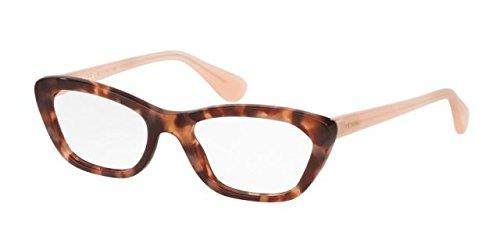 Prada PORTRAIT PR03QV Eyeglass Frames UE01O1-52 - Spotted Brown Pink - Men Eyeglass Prada Frames For