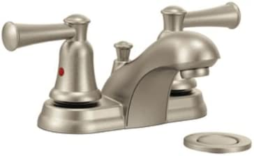 Cleveland Faucets CA41211BN Capstone Centerset Bathroom Faucet with 50 50 Pop-Up Drain, Brushed Nickel
