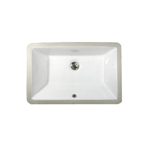 70%OFF Nantucket Sinks UM-19x11-W 19-Inch  by 11-Inch  Rectangle Ceramic Undermount Vanity Sink, White