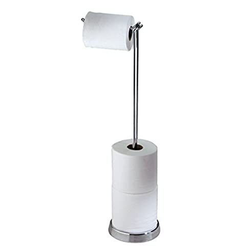 mdesign toilettenpapierhalter freistehend toilettenrollenhalter ohne bohren moderner klopapierhalter mit ablage und stauraum fr mehrere - Moderner Freistehender Toilettenpapierhalter