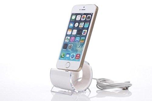 PRECORN Ladestation Ladegerät Dockingstation für Apple iPhone 5c 5s 6 6s Plus Ipod Docking Station in weiss