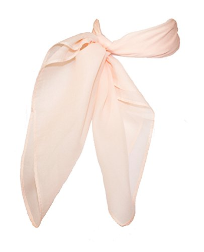 Sheer Chiffon Scarf Vintage Style Accessory for Women and Children, Peach from Hip Hop 50s Shop