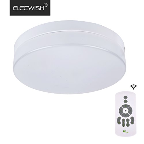 Elecwish 24W 1920lms (150W incandecent equivalent) 12-inch Smart LED Ceiling Light Flushmount Wireless Remote Control Ceiling Fixture Stepless Dimming Acrylic Cover
