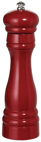 Fletchers' Mill Federal Salt Mill, Cinnabar - 8 Inch, Adjustable Coarseness Fine to Coarse, MADE IN U.S.A.