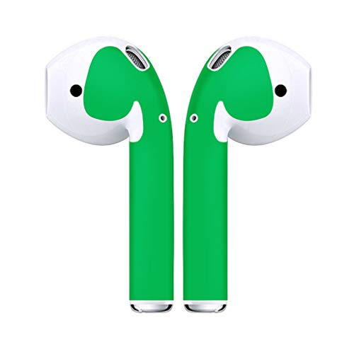(Hefu ☪ Earphone Anti-Scratch Protector Cover Skins,Wraps Minimal Stylish Customization for Apple AirPods (Green))