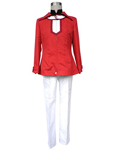 Mtxc Men's Yu-Gi-Oh! GX Cosplay Costume Jaden Yuki 1st Size Large Red]()