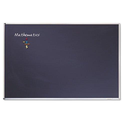 Quartet Porcelain Chalkboard, 4 x 6 Feet, Black with Aluminum Frame (PCA406B) ()
