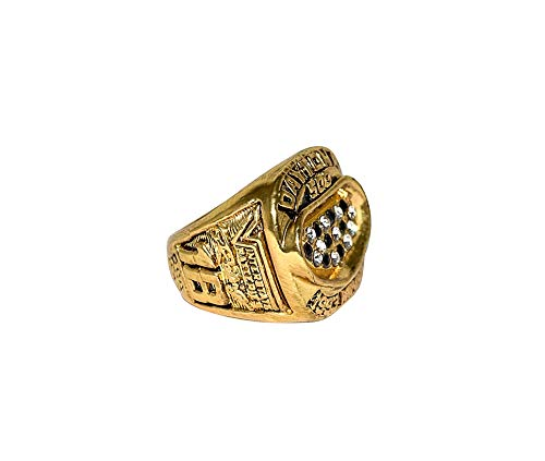 DALE JARRETT (Joe Gibbs Racing) 1993 DAYTONA 500 RACE WINNER (#18 Interstate Batteries Team) Vintage Rare Collectible Replica Gold NASCAR Championship Ring with Cherrywood Display Box