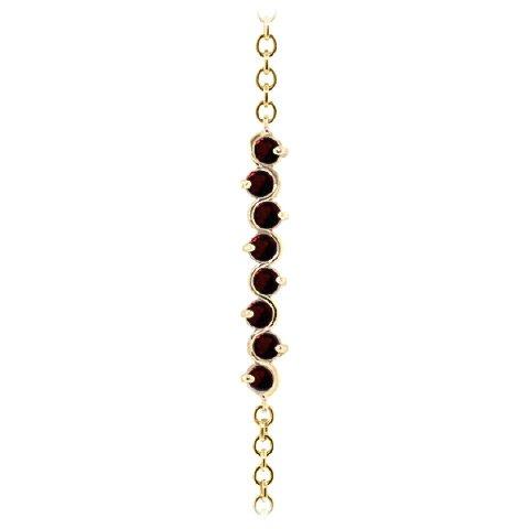 QP bijoutier grenat naturel Bracelet en or 9 carats, 1.55ct 5087Y-ronde