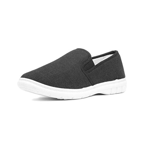Hobos Mens Twin Gusset Canvas Shoe in Charcoal