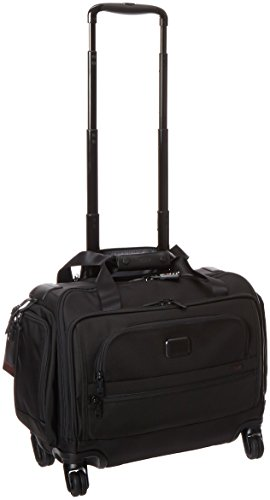 Tumi Alpha 2 4 Wheeled Compact Duffel, Black, One Size by Tumi