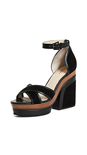 botkier Women's Paloma Block Heel Sandals, Black, 9 B(M) US