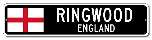 England Flag Sign - RINGWOOD, ENGLAND - Custom City Flag Sign - 4