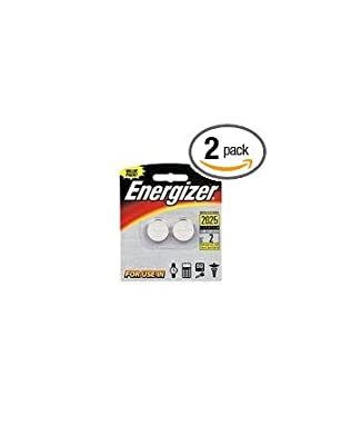 Energizer Lithium Coin Cell Watch Batteries 2 Pack - 2025BP2