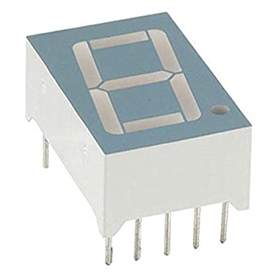 .56IN. 7 SEGMENT SINGLE DISPLAY; 635NM RED; GRAY FACE; WHITE SEGMENTS; COMMON CA, Pack of 20