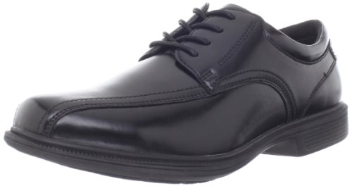 Nunn Bush Lace Oxfords - Nunn Bush Men's Bartole Street Bicycle Toe Oxford Lace Up with KORE Slip Resistant Comfort Technology, Black, 10.5