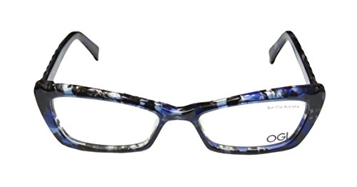 Ogi 3109 WomensLadies Optical Gorgeous Cat Eye Full-rim EyeglassesEyeglass Frame (51-16-140 Blue  Multicolor)