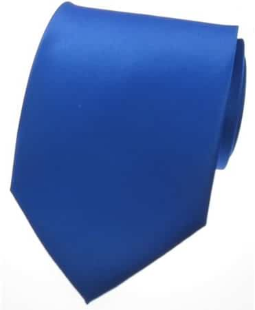 NEW SOLID ROYAL BLUE SATIN Mens Necktie Neck Tie