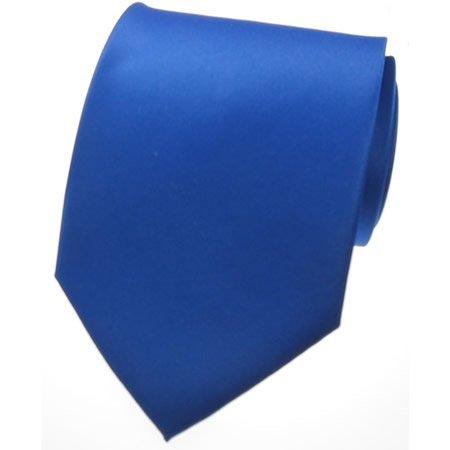 NEW SOLID ROYAL BLUE SATIN Mens Necktie Neck Tie
