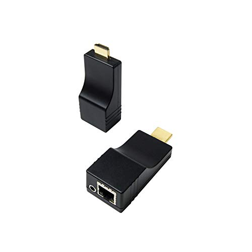 DDMALL 492ft HDMI Extender Over TCP/IP, 1080p, Mini Size, Using Single CAT5e/CAT6 Cable, One-to-One, One-to-Many Connection, Transmitter and Receiver Kit (1TX+1RX)