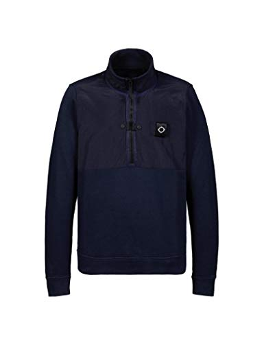 MA.STRUM - MA Strum Sweater with Zip Blue Navy Colour, used for sale  Delivered anywhere in USA
