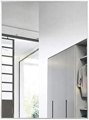ゴールデンバスルームの鏡防水アルミフレーム防爆安全ポーチ装飾鏡 J1/5 (Color : Silver, Size : 40x60cm)
