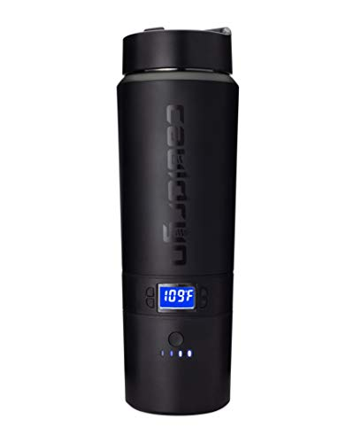 Cauldryn Coffee Travel Mug - 16 Ounce, Heated, 10 Hour Battery Life, Temperature Controlled Smart Mug, App Control, Boils Water, Brews and Maintains Coffee or Tea