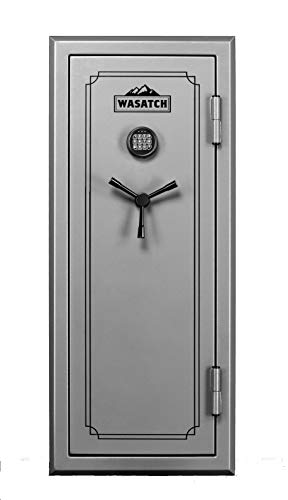 Wasatch 24-Gun Fireproof and Waterproof Safe with Electronic Lock, Gray