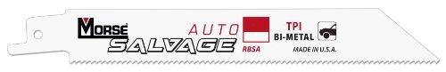 MK Morse Auto Salvage RBSA818T50 Bimetal Recip Blade 8-Inch X .035 18TPI, 50-Pack