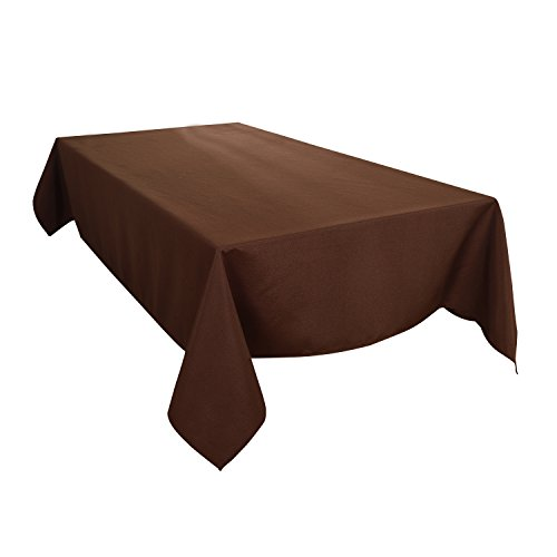 HIGHFLY Linen Rectangle Tablecloth 60 X 84 Inch Waterproof coffee Tablecloth for Dining room Restaurant