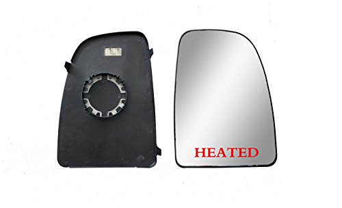 (Brand New Passenger Right SIde Replacement Mirror Upper Glasses With Heated And Plate fit Ram Promaster 1500, 2500, 3500, New Six, Work Van)