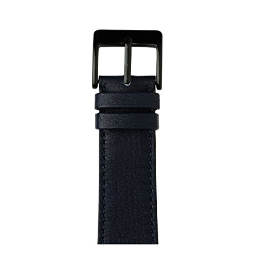 Roobaya | Premium Sauvage Leather Apple Watch Band in Dark Blue | Includes Adapters matching the Color of the Apple Watch, Case Color:Space Black Stainless Steel, Size:42 mm by Roobaya