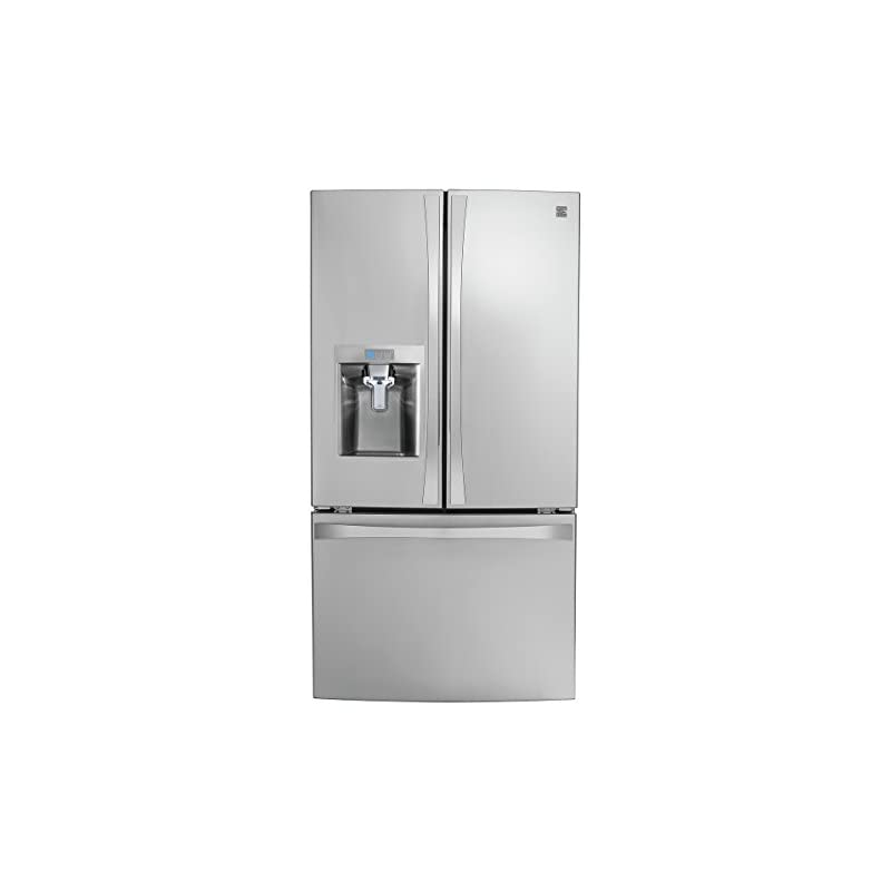 Kenmore Smart 75043 24 cu. ft. French Door Bottom-Mount Refrigerator in Stainless Steel - Compatible with Amazon Alexa and enabled with DRS, includes delivery and hookup
