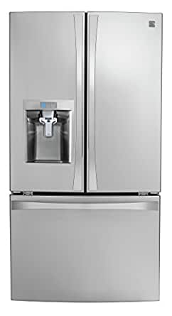 Kenmore Smart 75043 24 cu. ft. French Door Bottom-Mount Refrigerator in Stainless Steel - Compatible with Amazon Alexa, includes delivery and hookup