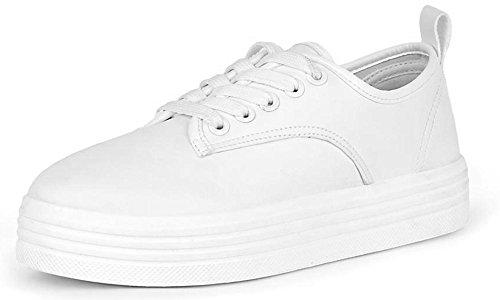 Casual Platform Fashion Creeper Footwear White Women's Sneaker Refresh qwEtTafw