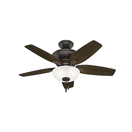 Savoy House 52-SGO-5WA-13 Downrod Mount, 5 walnut Blades Ceiling fan, English Bronze